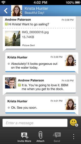 """Susirašinėjimo aplikacija """"BlackBerry Messenger"""""""