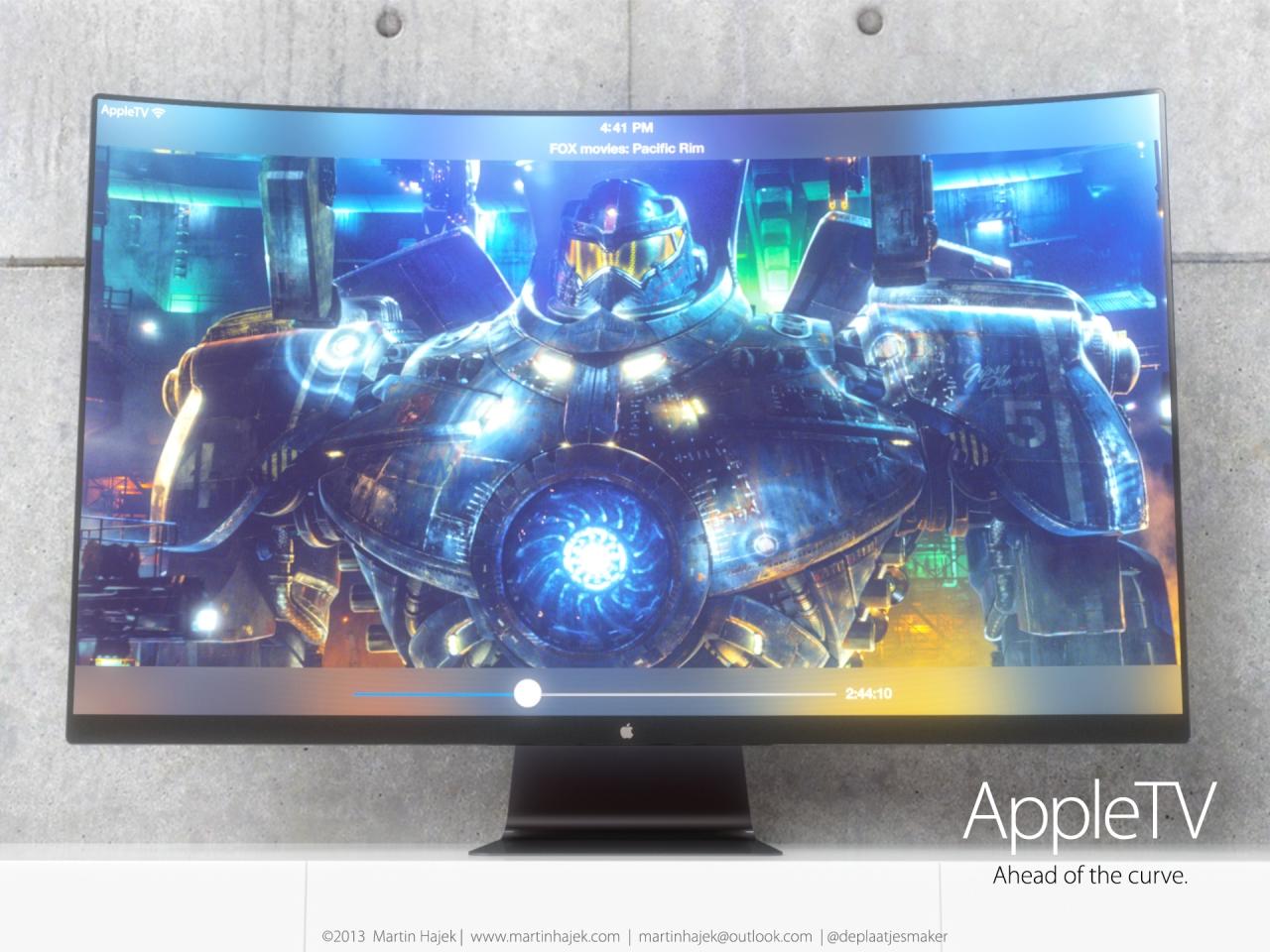 """""""Apple"""" televizoriaus konceptas"""