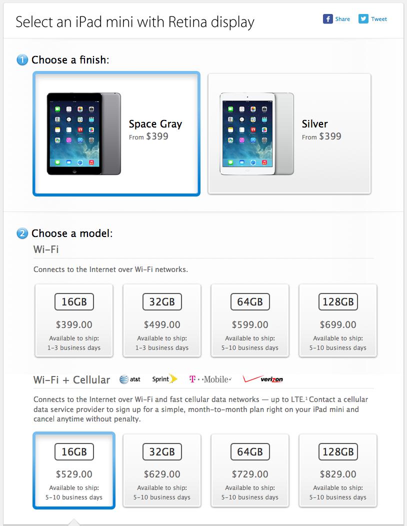 """""""iPad mini"""" kainos JAV"""