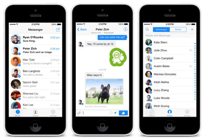 """Atnaujinta """"Messenger"""" aplikacija"""