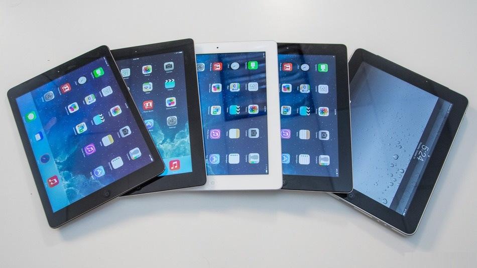 """Planšetinis kompiuteris """"iPad"""": nuo pirmos iki penktos kartos"""