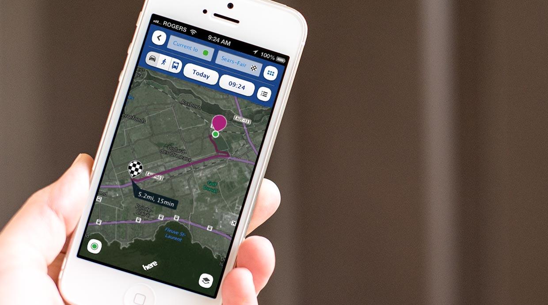 """""""Nokia"""" žemėlapių aplikacija """"HERE"""""""