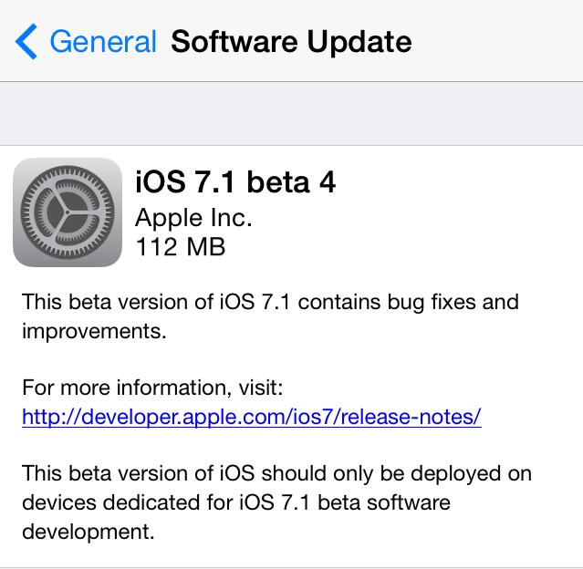"""""""iOS 7.1"""" versija"""