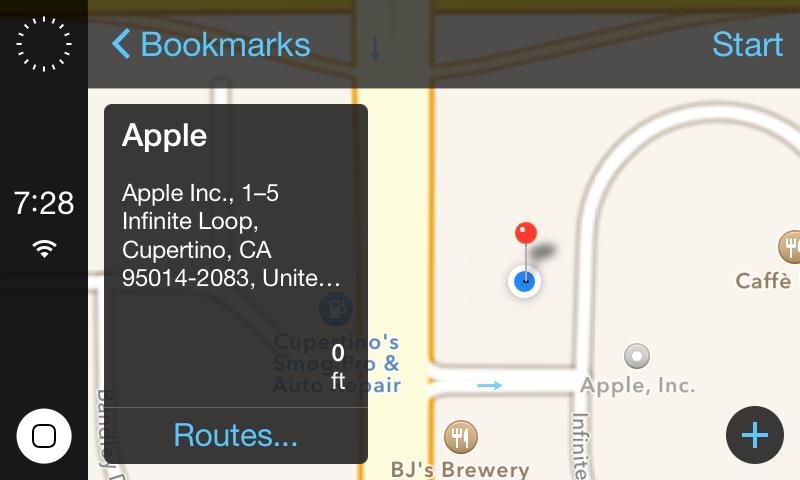 """Galima """"iOS in the Car"""" vartotojo sąsaja"""