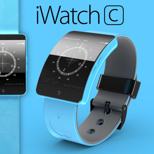 """Išmaniojo laikrodžio """"iWatch C"""" konceptas"""