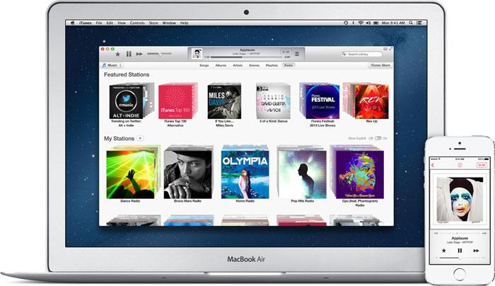 """Muzikos klausymosi internetu paslauga """"iTunes Radio"""""""