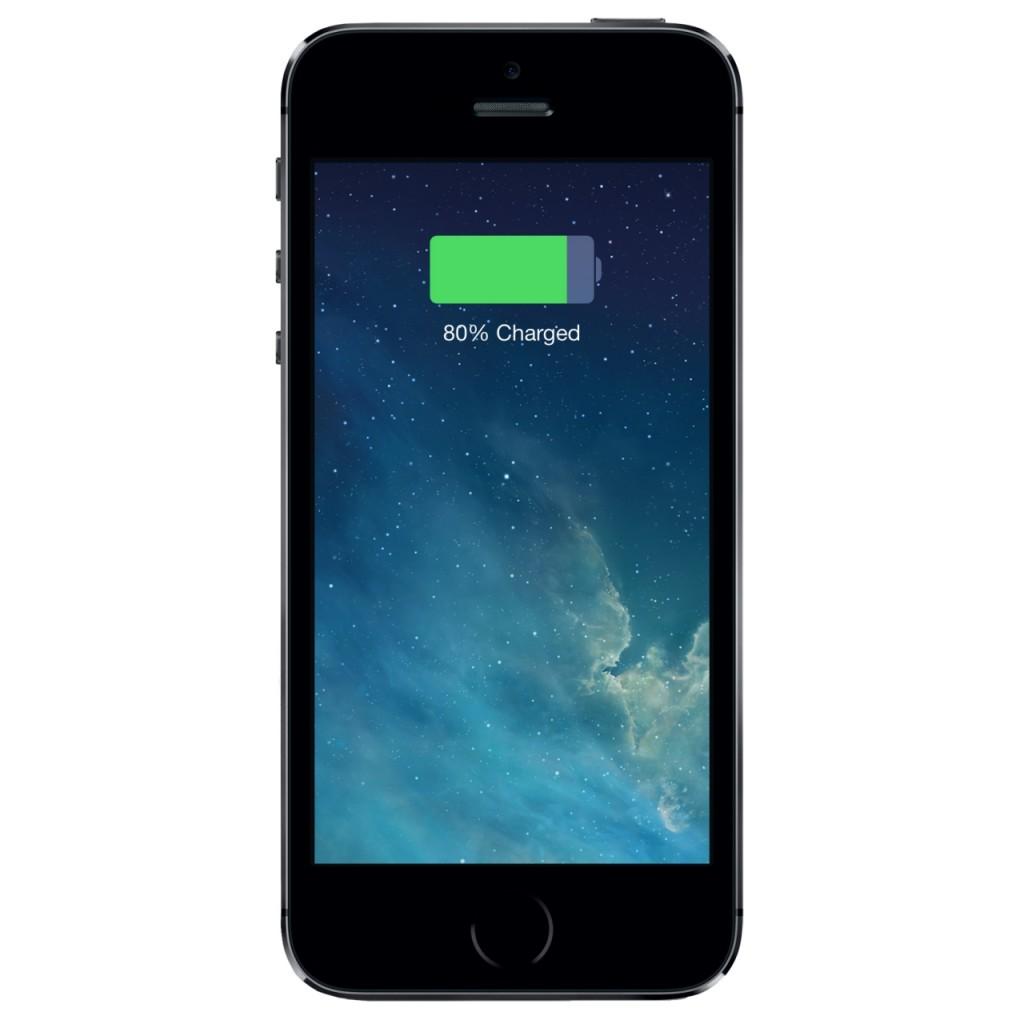 """iPhone 5S"" baterijos indikatorius"