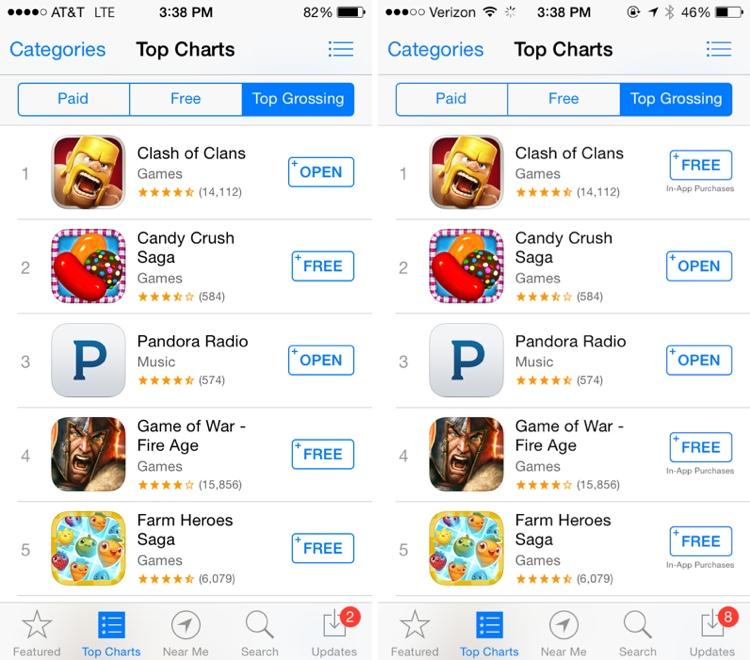 """Atsinaujinusi """"App Store"""" įspės apie galimas papildomas išlaidas"""