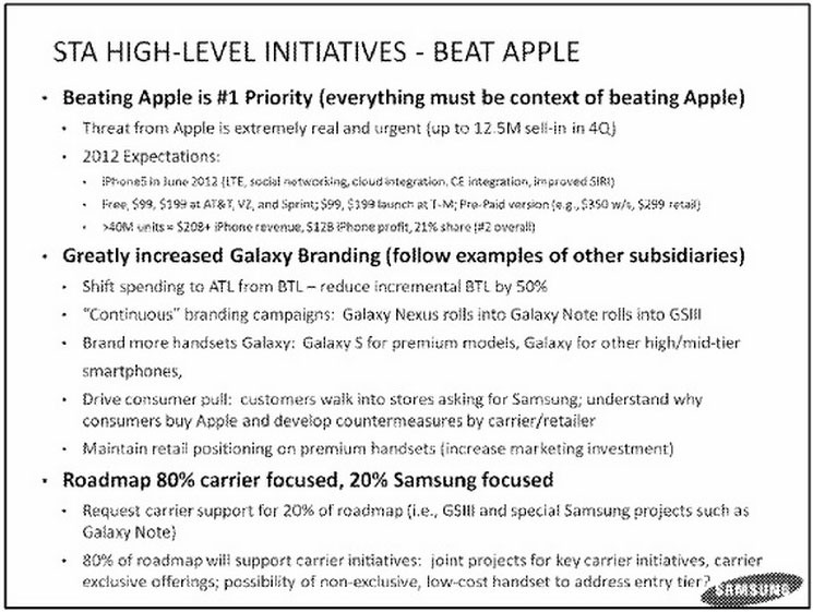 """Svarbiausias """"Samsung"""" tikslas - įveikti """"Apple"""""""