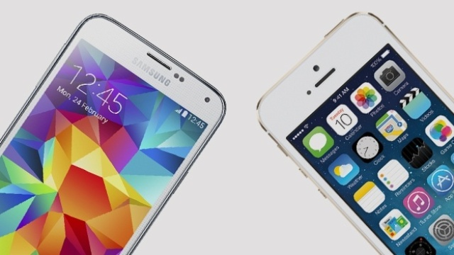 """Galaxy S5"" ir ""iPhone 5S"""
