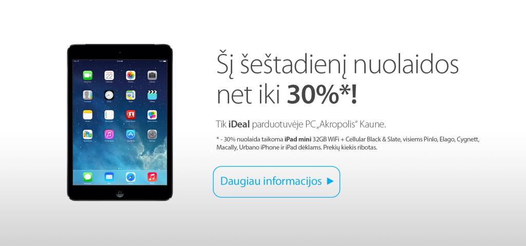 """JAMAM akcijos proga - nuolaidos Kauno """"iDeal"""" salone"""