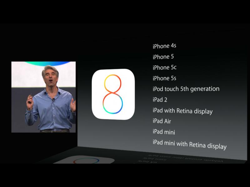 """Paaiškėjo, kokie įrenginiai palaikys operacinę sistemą """"iOS 8"""""""