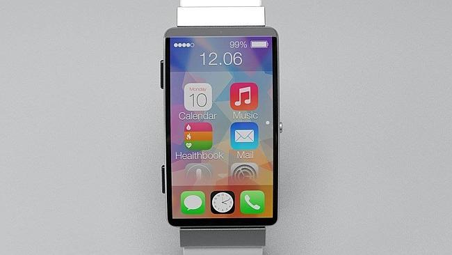 """Išmaniojo laikrodžio """"iWatch"""" konceptas: 2,5 colio ekranas, """"iOS 8"""" ir krūva sensorių"""