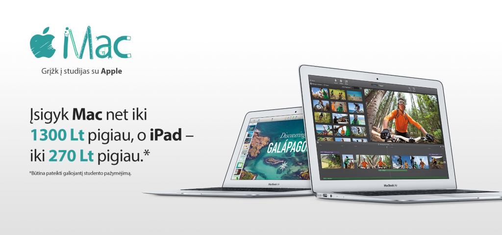 """""""Back to School"""" akcijos proga - nuolaidos """"Mac"""" ir """"iPad"""""""