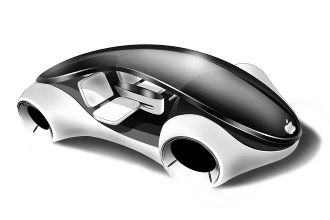 """Futuristinio """"Apple"""" elektromobilio konceptas"""