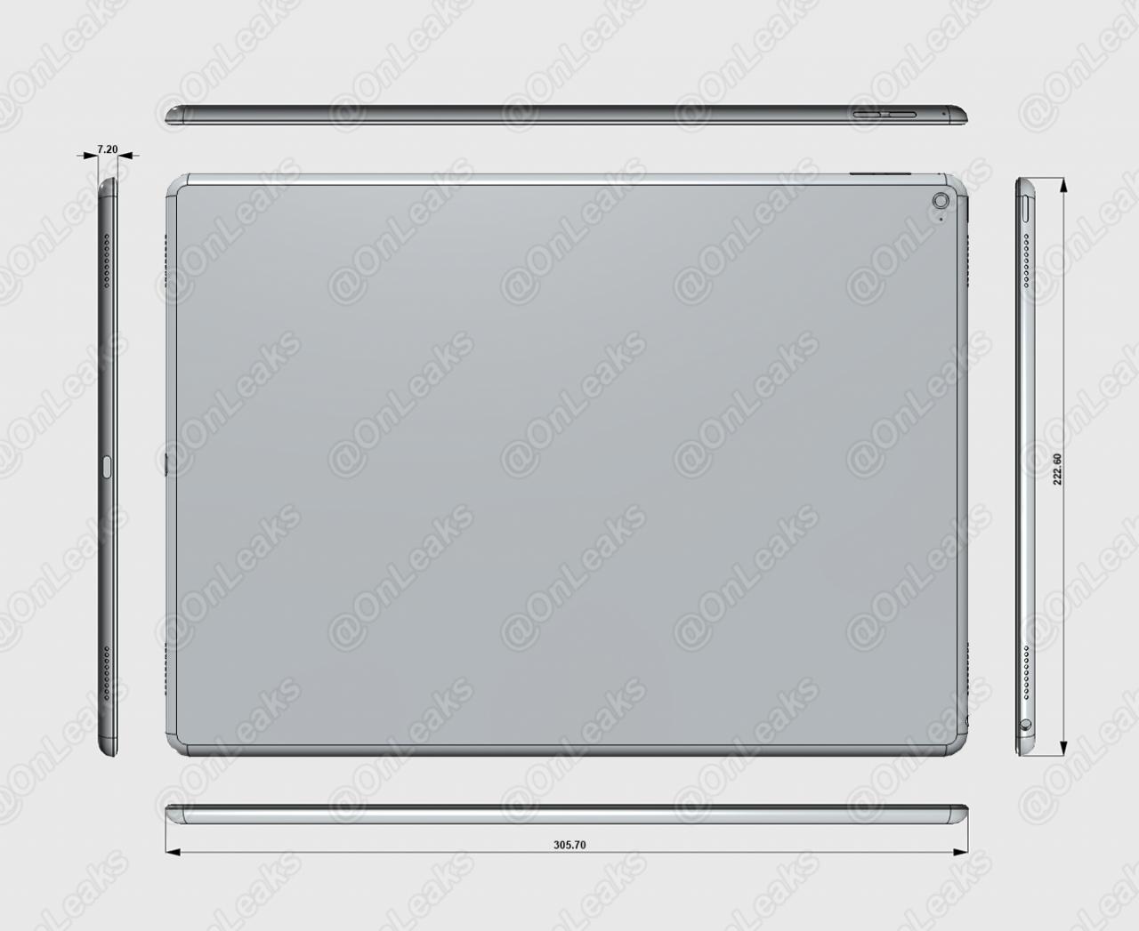"Numanomi ""iPad Pro"" išmatavimai"