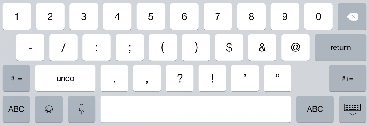 """""""iOS 9"""" klaviatūra"""